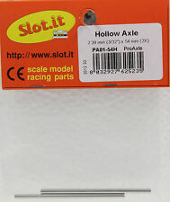 SLOT IT SIPA01-54H 54MM (2) 3/32 HOLLOW PRO AXLES NEW 1/32 SLOT CAR PART
