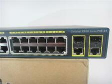 Cisco WS-C2960-24PC-L 24 Port POE Switch Dual Gigabit Uplinks 15.0tar ios Tested
