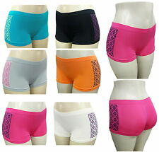 6 LADIES BOXER SHORT SEAMLESS BOYSHORTS UNDERWEAR WOMEN PANTIES UNDIES MICROFIBE