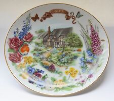 Reco ENGLAND Porcelain Plate 1988 1st Edition English Country Garden Dot Barlow