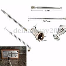 F Type Connector DAB Radio Replacement Antenna Telescopic Aerial 7 Section