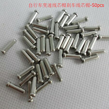 LOTS ALUMINUM BIKE BICYCLE SHIFTER BRAKE CABLE TIPS CAPS ENDS CRIMPS 100PCS