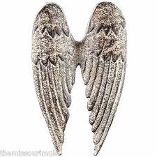 NEW~Cast Iron ANGEL WINGS Wall Hanging Decor Distressed Finish Christian