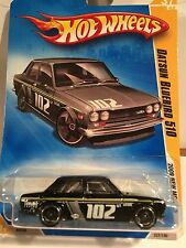 Hot Wheels New 2009 Datsun Bluebird 510  1/64 scale MIP, Black  JDM