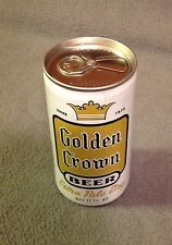 GOLDEN CROWN BEER -Vintage Empty 12 ounce Pull Tab Aluminum Can -Bottom Punched