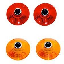 2 Red 2 Amber Dot Turn Signal Blinker Lenses for Harley Softail Roadking Touring