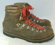 Vintage Lowa Germany Men's Size 10 Brown Leather Alpine Mountain Hiking Boots