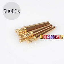 500PCs Brass Dowel Pins Dental Lab  for 1.85mm tungsten steel drills #2 MEDIUM