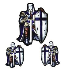 Blue Knight Crusader Vinyl Stickers Decals For Tanks, Bumpers, Windows, Helmets