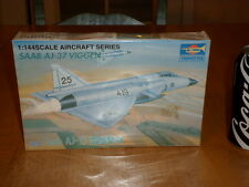 SWEDISH AIR FORCE - SAAB AJ-37 VIGGEN, FIGHTER PLANE, Plastic Model,Scale 1/144