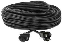 50ft 18 AWG Universal Power Cord - IEC320 C13 to NEMA 5-15P 10A