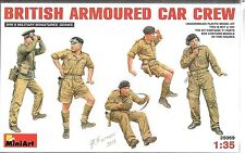 1/35 MiniArt 35069 - WWII British Armored Car Crew 5 Figures Model
