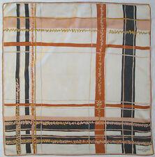 -Authentique Foulard JEANNE LANVIN  soie  TBEG  vintage Scarf  76 x 78 cm