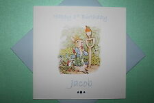 Handmade Personalised Peter Rabbit Birthday Card Son Grandson Any Age 1 2 3 4 5