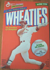 Mark McGwire 70 HR's Wheaties Cereal Box, FULL, St. Louis Cardinals