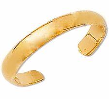 10K Yellow Gold Plain Shiny Toe Ring Body Art Adjustable