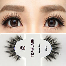 1Pair Luxury 100% Real Mink Natural Long Thick Eye Lashes Black False Eyelashes