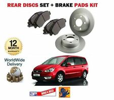 FOR FORD GALAXY ALL MODELS 2006-2010 REAR BRAKE DISCS SET AND DISC PADS KIT