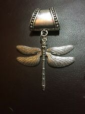 Silver Dragonfly Large Scarf Ring / Pendant