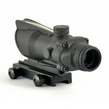 Outdoor Hunting ACOG Style Optic Fiber Power 1x32 Rifle Green Dot Sight Scope