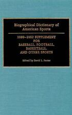 Biographical Dictionary of American Sports: 1989-1992 Supplement for B-ExLibrary
