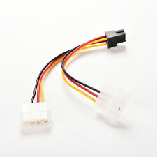 Dual (2x) Molex (4 Pin) to PCI-E (6 Pin) Power Converter Adapter Connector Cable