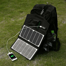 5V 14W Portable Foldable Solar Panel Battery Charger Backup For Computer Laptops