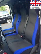FORD TRANSIT 2005 DELUXE RACING BLUE VAN SEAT COVERS 2+1