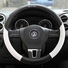 2016 Black White Slip On Style Steering Wheel Cover Perfect Fit Long Lasting