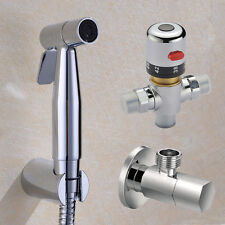 Thermostatic Mixer Valve Staianless Steel Shattaf Bidet Shower Spray Douche Kit