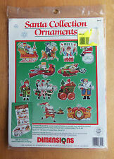 Charles Wysocki SANTA COLLECTION ORNAMENTS Counted Cross Stitch Kit SEALED
