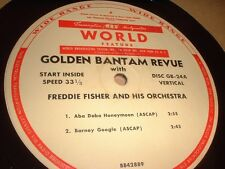 "33RPM 16"" vinyl World Feature Transcription Freddie Fisher, Jesters, B Google V"