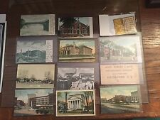 Lot of 12 Vintage Watertown NY Postcards, Real Photo, Advertising Calendar, Ink