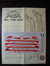 1/144 ATP DECALS BAe 146-200 PSA PACIFIC SOUTHWEST AIRLINE DECALCOMANIE