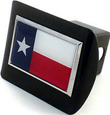 All Metal Texas Flag Black Hitch Receiver Cover