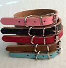Pet Puppy Dog Collars Real Leather Extra Small, Small, Medium, Large