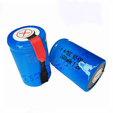 2x 1600mAh Ni-CD 4/5SC SubC Sub C 1.2V Rechargeable Battery with Tab univerisal