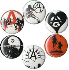Anarchy Set of 6 Buttons-Badges-Pins Crimethinc anarchism anarchist situationist