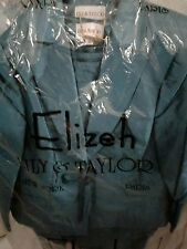 Lily and Taylor Elizeh Ladies  Pc Lined Jacket, Skirt and Top Size 16 Green