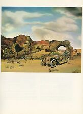 "1976 Vintage SALVADOR DALI ""PARANOIAC CRITICAL SOLITUDE"" COLOR Art Lithograph"