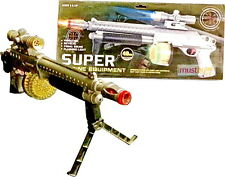 Kids Toy Machine Gun Army Police Soldier  With Light Sound Vibration Battery Pow