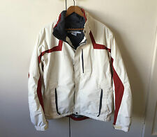 COLUMBIA White & Red Omni-Tech Waterproof Jacket Coat Size M