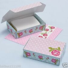 New wedding vintage rose shabby chic afternoon tea party 10 cake slice box