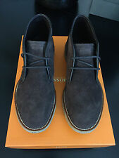 HUGO BOSS ORANGE Amplus Chukka Boot Suede Dark Brown 10 M NIB