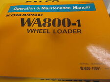 Komatsu WA800-1 Wheel Loader Operation & Maintenance Manual 10001-Up