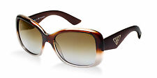 LIMITED EDITION Polarised PRADA Ladies Brown Timeless SPR 32P PR 32PS PDM 6E1 RX