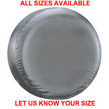 4x4 wheel cover to fit all rear spare tyre tire SILVER plain car van caravan NEW