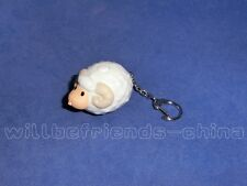 White Sheep Figure Sound LED Torch Keychain KeyRing Bag Dangle Charm Pendant