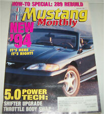 November 1993 Mustang Monthly Magazine