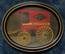 Vintage The Great Atlantic & Pacific Tea Co. / A&P Oval Tin Tray With Wagon